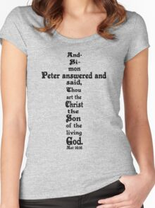MATTHEW 16:16 cross Women's Fitted Scoop T-Shirt
