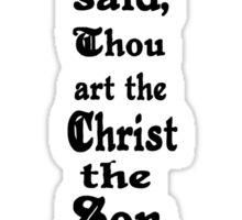 MATTHEW 16:16 cross Sticker
