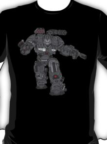 War Machine Tony Stark's Hulkbuster Suit Armour , Black outline with colour fill T-Shirt