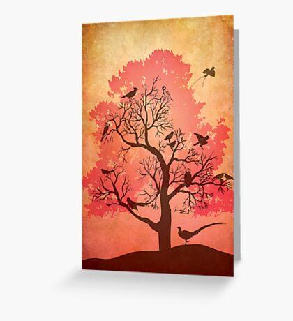 Tree of beaks Greeting Card