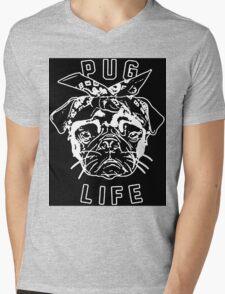 Thug Life Pug Life Mens V-Neck T-Shirt