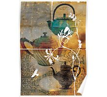 Large Antique Teapot Canvas Poster