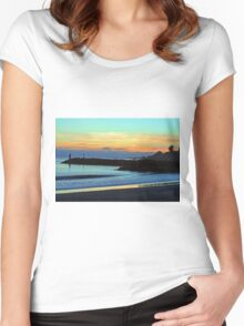 Sunset at the Beach Women's Fitted Scoop T-Shirt