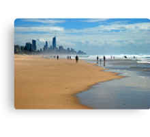 Surfers Paradise through the haze Canvas Print