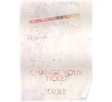 """""""Change Your Ticket"""" One Direction Poster"""