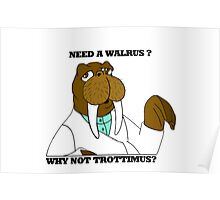 NEED A WALRUS? WHY NOT TROTTIMUS Poster