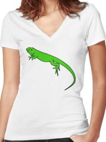 I Want an Iguana Women's Fitted V-Neck T-Shirt