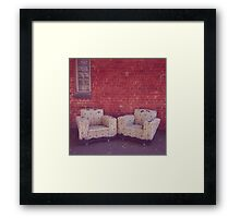 where the lonely go to rest Framed Print