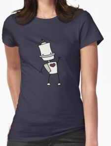 Vintage Robot Love Womens T-Shirt