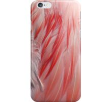 Sleeping Greater Flamingo Coral Pink Wing Feathers iPhone Case/Skin