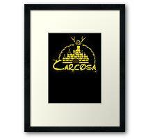 Carcosa | True Detective | Disney Yellow Distressed Framed Print