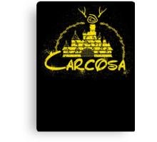 Carcosa | True Detective | Disney Yellow Distressed Canvas Print