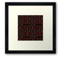 Patchwork seamless snake skin pattern Framed Print