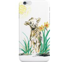 Joyful baby Lamb iPhone Case/Skin