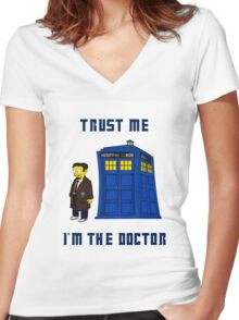 Doctor Nick I Women's Fitted V-Neck T-Shirt