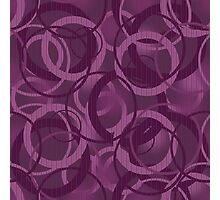 Seamless pattern with circles purple Photographic Print