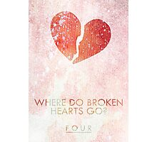 """Where Do Broken Hearts Go?"" One Direction Photographic Print"