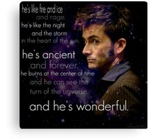 Doctor Who- Tenth Doctor Devid Tennant  Canvas Print