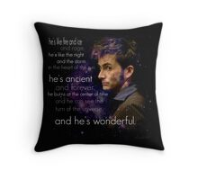 Doctor Who- Tenth Doctor Devid Tennant  Throw Pillow
