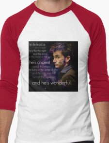 Doctor Who- Tenth Doctor Devid Tennant  Men's Baseball ¾ T-Shirt