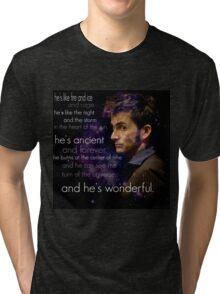 Doctor Who- Tenth Doctor Devid Tennant  Tri-blend T-Shirt