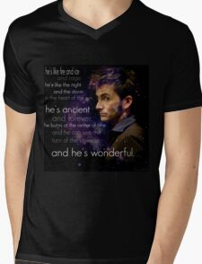 Doctor Who- Tenth Doctor Devid Tennant  Mens V-Neck T-Shirt