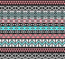 Modern Native American Tribal Aztec Pattern by ChicPink