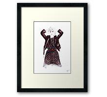 Polka Dot Dress Framed Print