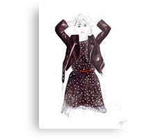 Polka Dot Dress Metal Print