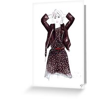 Polka Dot Dress Greeting Card