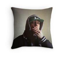 Hiphop rap singer medium format Hasselblad portrait photograph Throw Pillow
