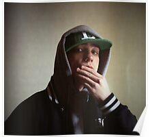 Hiphop rap singer medium format Hasselblad portrait photograph Poster