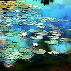 Lily Pond Impression by Darlene Lankford Honeycutt