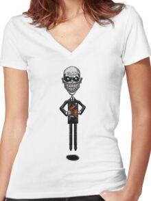 The Floating Gentlemen Women's Fitted V-Neck T-Shirt