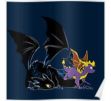 Spyro Toothless Poster