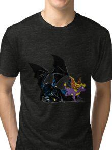 Spyro Toothless Tri-blend T-Shirt