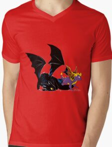 Spyro Toothless Mens V-Neck T-Shirt