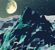 Night Mountains No. 2 by BakmannArt