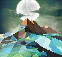 Night Mountains No. 3 by BakmannArt