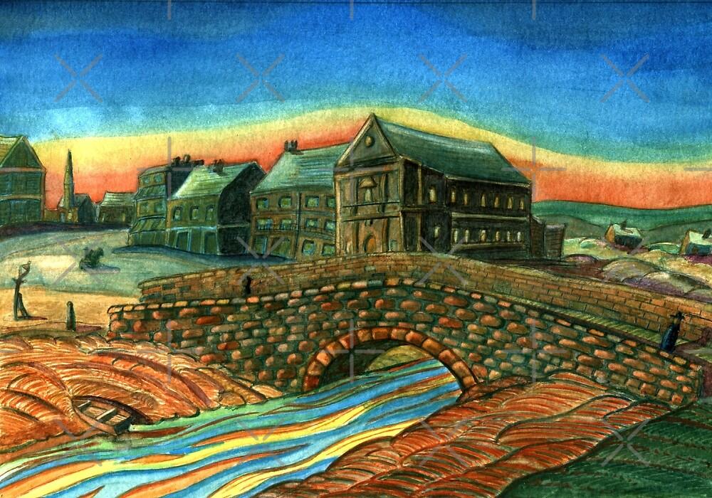 173 - WATERLOO BRIDGE, BLYTH - DAVE EDWARDS - WATERCOLOUR - 2007 by BLYTHART