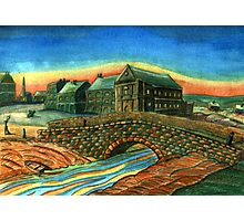173 - WATERLOO BRIDGE, BLYTH - DAVE EDWARDS - WATERCOLOUR - 2007 Photographic Print