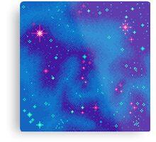 Indigo Nebula (8bit) Metal Print
