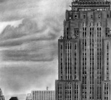 Empire State  Building New York Pencil Drawing by daverives