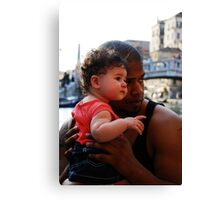 daddy, look... Canvas Print