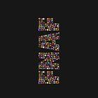 Five Nights at Freddys - Pixel art - FNAF typography by GEEKsomniac