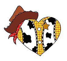 A Woody Heart Photographic Print