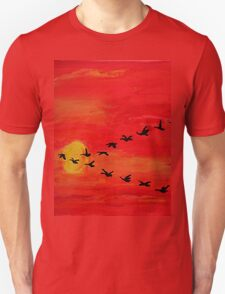 Bird train Unisex T-Shirt
