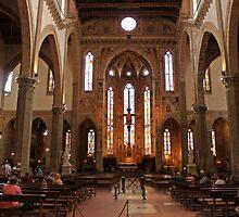 Santa Croce aisle by Elena Skvortsova