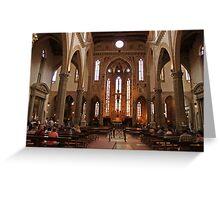 Santa Croce aisle Greeting Card