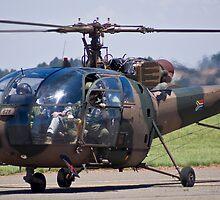 Sud Aviation SE-316B Alouette III Helicopter - SAAF 628 by RatManDude